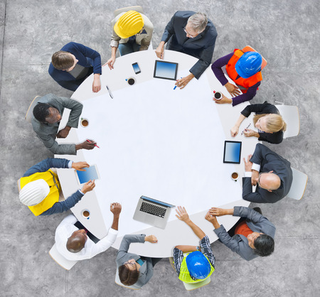 group of business people: Diversity Group of People Brainstorming Meeting Ideas Concept Stock Photo
