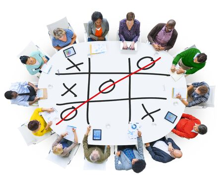 mind game: Tic Tac Toe Game Competition XO Win Challecge Concept