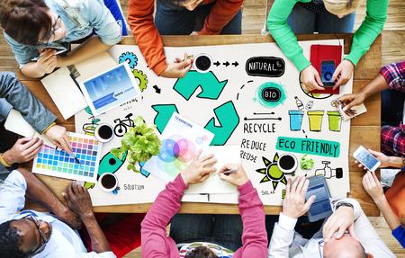 Recycleer Verminder Hergebruik Ecologische Natuurlijke Saving Go Green Concept Stockfoto