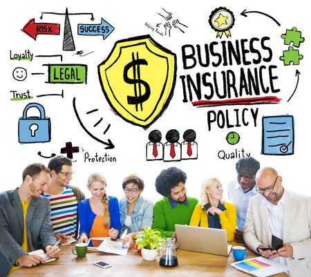 Multiethnic  People Meeting Safety Risk Business Insurance Concept photo