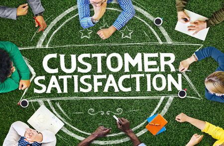 customer satisfaction: Customer Satisfaction Support Service Quality Concept Stock Photo