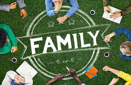 relationship strategy: Family Relationship Parenting Generation Concept