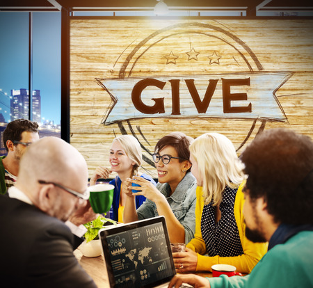 Give Help Donation Support Provide Volunteer Concept