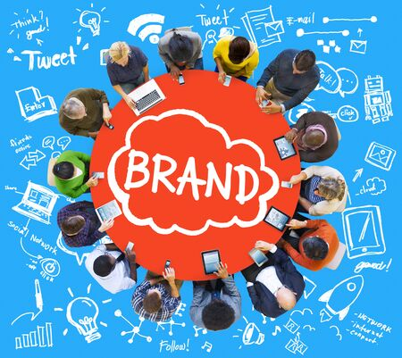 business meeting: Brand Branding Connection Idea Technology Concept