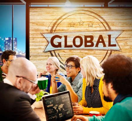 globalization: Global Globalization Community Communication Concept Stock Photo