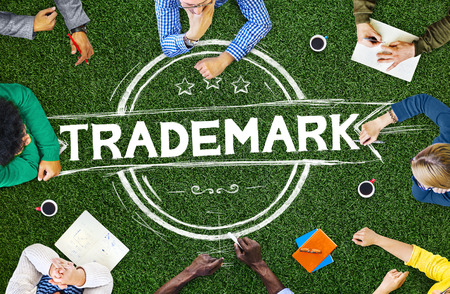 trademark: Trademark Brandind Advertising Copyright Concept Stock Photo