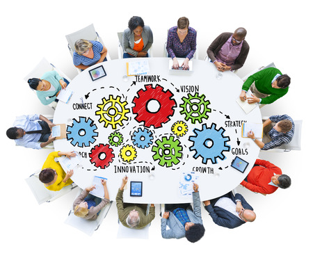 team business: Team Teamwork Goals Strategy Vision Business Support Concept