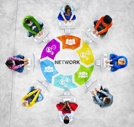 american downloads: People Social Networking and Network Concept Stock Photo