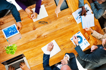 asian business people: Diversity Business Team Planning Board Meeting Strategy Concept Stock Photo