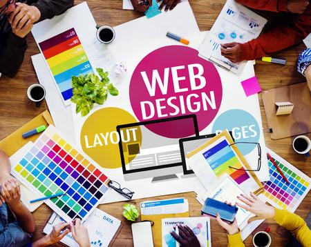 Diseño Web Contenido Creativo Web Concept Responsive Foto de archivo - 41464106