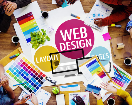 web layout: Web Design Content Creative Website Responsive Concept