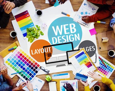 strategy: Dise�o Web Contenido Creativo Web Concept Responsive Foto de archivo