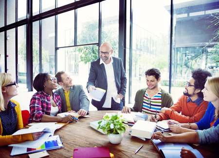 business administration: Diverse Casual Business People in a Meeting