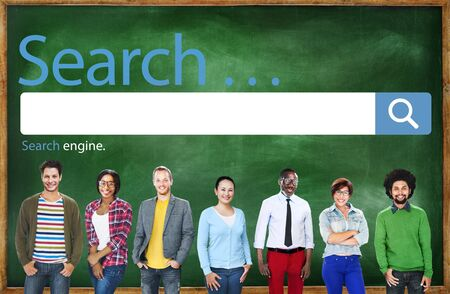 college professor: Search Browse Find Internet Search Engine Concept