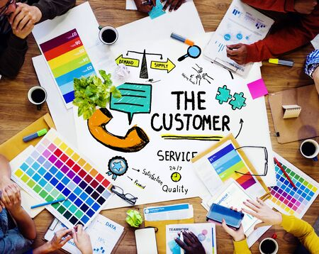 service desk: The Customer Service Target Market Support Assistance Concept