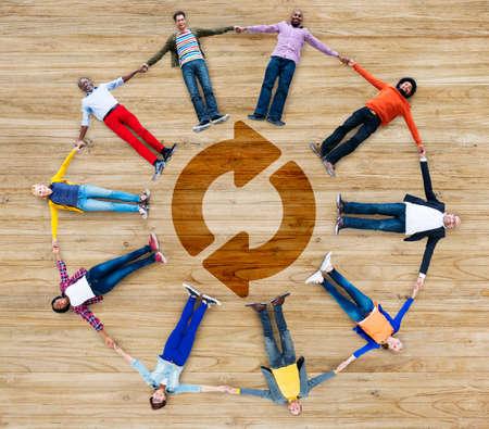 undo: Refresh Repeat Symbol Round Rotation Undo Circular Concept Stock Photo