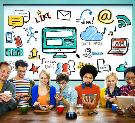 social media: Social Media Social Networking Technology Connection Concept