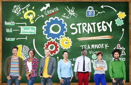 solution: Strategy Solution Tactics Teamwork Growth Vision Concept
