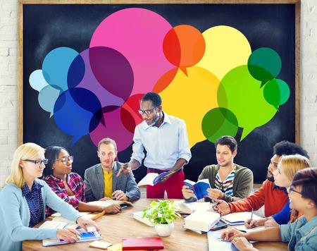 Casual People Message Talking Communication Concept Standard-Bild