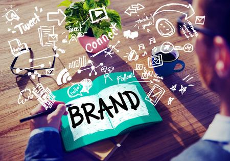 Marca Branding Idea Conexión Tecnología Concepto