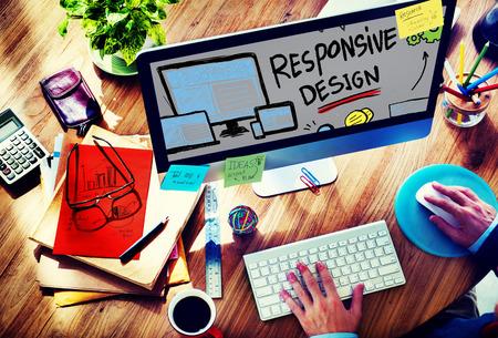 Responsive Design Responsive Quality Analytics Immagination Concept photo