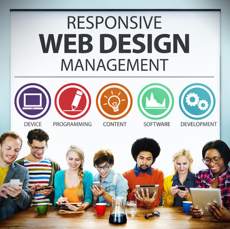 content management: Responsive Web Design Management Programming Concept