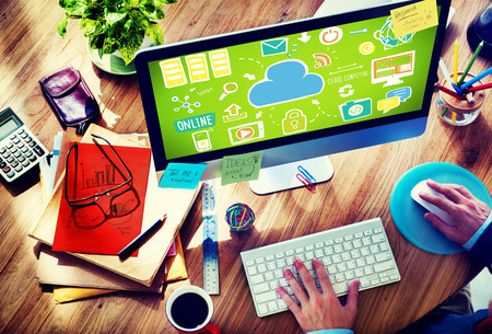 Cloud Computing Network Online Internet Storage Concept photo