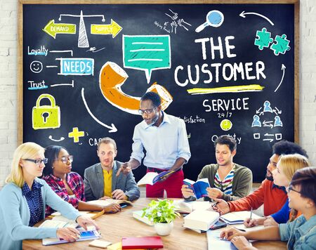 customer service: The Customer Service Target Market Support Assistance Concept