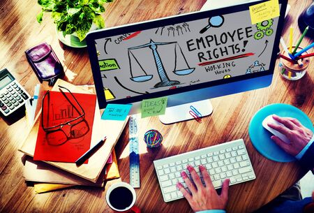 Employee Rights Working Benefits Skill Career Compensation Concept photo