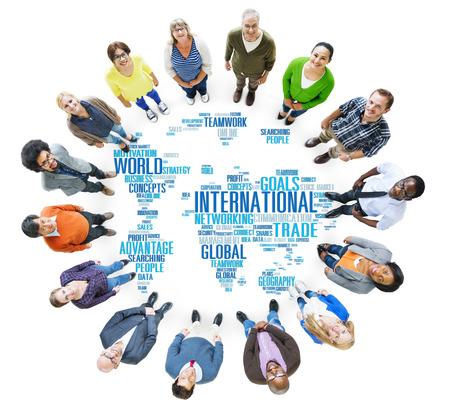 network concept: International World Global Network Globalization International Concept