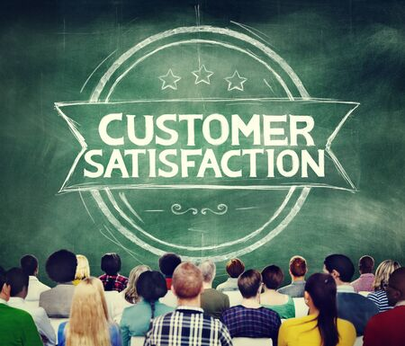 support team: Customer Satisfaction Support Service Quality Concept Stock Photo
