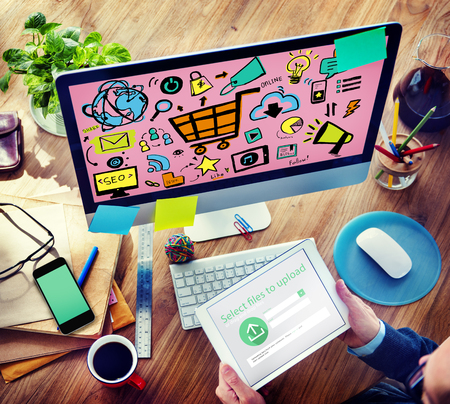 Online Marketing Strategy Branding Commerce Advertising Concept Stock Photo