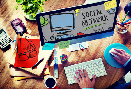 web design: Social Network Social Media Internet WWW Web Online Concept