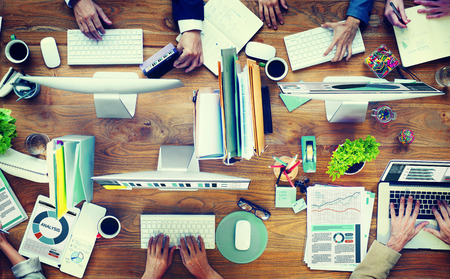 messy desk: Office Business Adminstratation Start Up Conference Meeting Concept