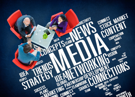 business media: Media Social Media Network Technology Online Concept