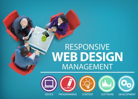 Web Responsive Design Management Concept de programmation Banque d'images - 41465207