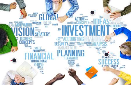 Inversión Global Business Profit Banca Concepto Presupuesto
