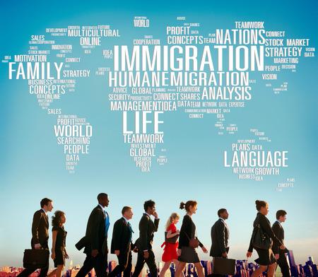 移民各国政府法律税関コンセプト