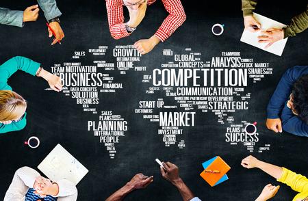 Global Competition Business Marketing Planning Concept Foto de archivo