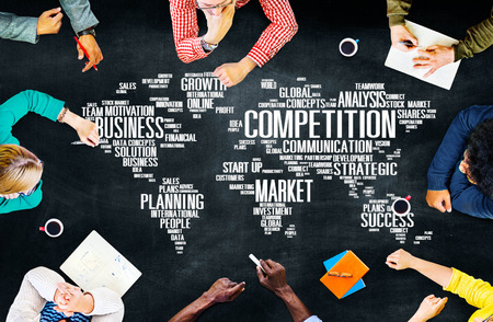 Global Competition Business Marketing Planning Concept 版權商用圖片