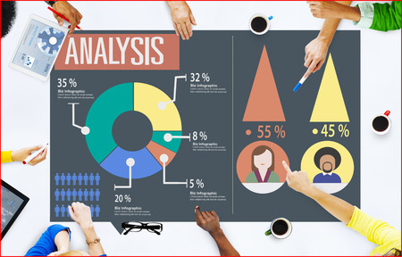 analytic: Analysis Analytic Marketing Sharing Graph Diagram Concept Foto de archivo