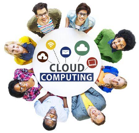internet network: Cloud Computing Network Online Internet Storage Concept