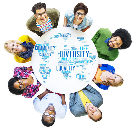 etnia: Concepto Diversidad Etnia World Community Global Foto de archivo