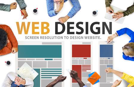 Web デザイン ネットワークのウェブサイトのアイデア メディア情報概念