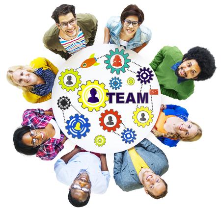 zweisamkeit: Menschen Verbindung Zusammenhalt Getriebeunter Team Konzept