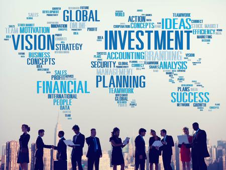 Investitionssicht Planning Finanzerfolg Global Concept Standard-Bild - 41861847