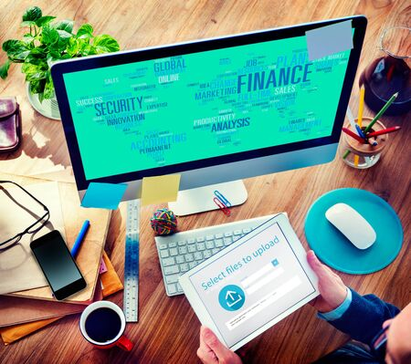 accounting: Análisis Global Finanace Seguridad Gestión Contabilidad Concepto Foto de archivo