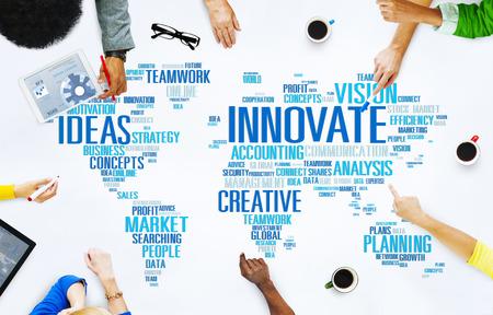 innovacion: Innovaci�n Inspiraci�n Creatividad Ideas Progreso Innovate Concept
