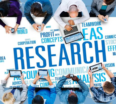 data: Research Data Facts Information Solutions Exploration Concept