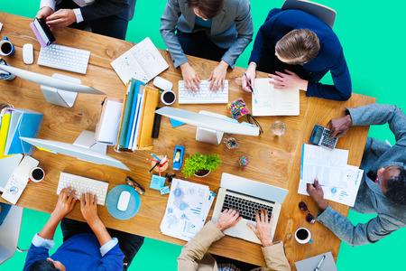 Zaken Mensen Werken Office corporate Team Concept